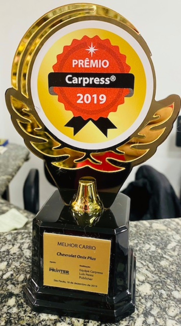Troféu do Prêmio Carpress do último ano