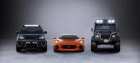 Range Rover Sport SVR, Jaguar C-X75 e Land Rover Defender Big Foot
